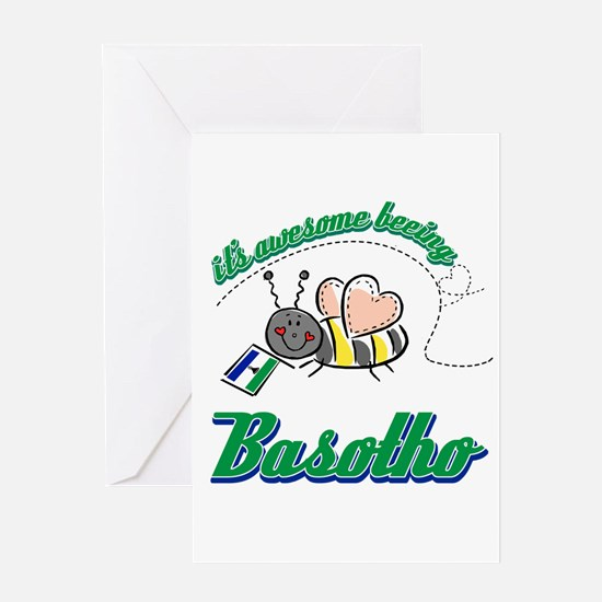 Awesome Being Lesotho Greeting Card