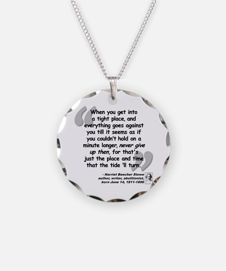 Stowe Never Quote Necklace