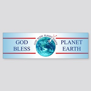 God Bless Planet Earth Bumper Sticker
