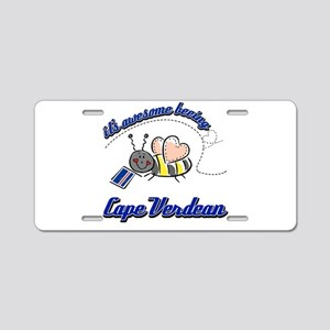Awesome Being Cape Verdean Aluminum License Plate