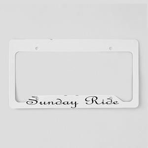 Sunday Ride License Plate Holder