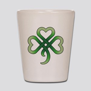 Celtic Clover Shot Glass