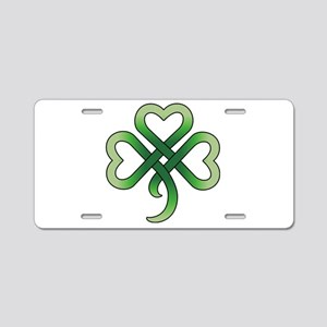 Celtic Clover Aluminum License Plate