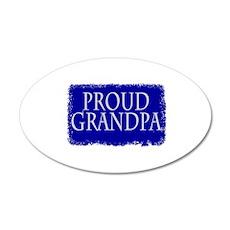 Proud Grandpa 22x14 Oval Wall Peel