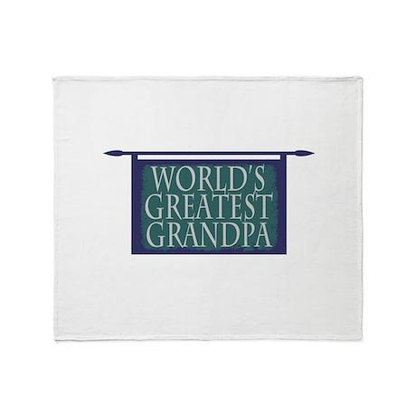 World's Greatest Grandpa Throw Blanket