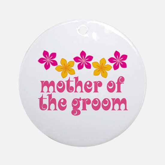 Mother of the Groom Hawaiian Ornament (Round)