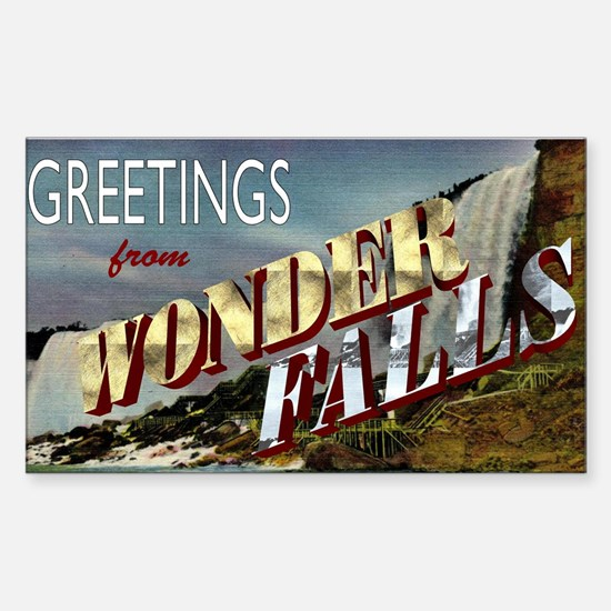 Greetings from Wonderfalls Sticker (Rectangle)