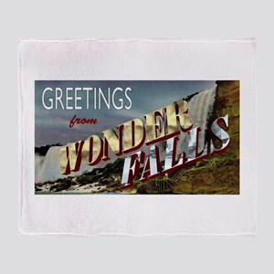 Greetings from Wonderfalls Throw Blanket