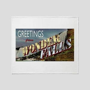 Greetings from Wonderfalls Throw Blanket
