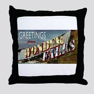 Greetings from Wonderfalls Throw Pillow