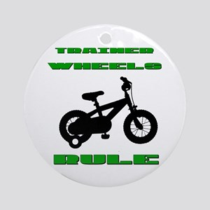 Trainer Wheels Bicycle Ornament (Round)