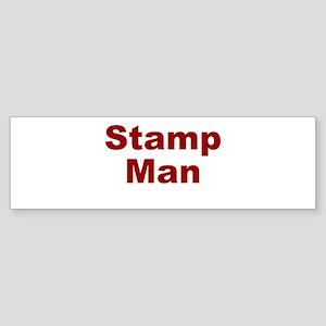 Stamp Man Sticker (Bumper)