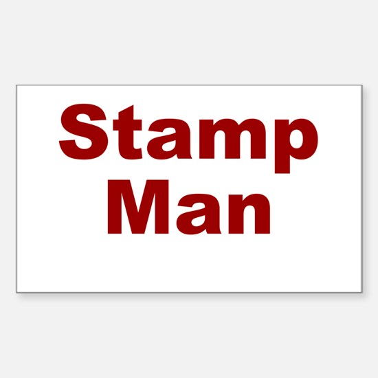 Stamp Man Sticker (Rectangle)