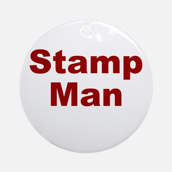 Stamp Man Ornament (Round)