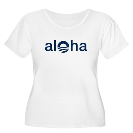 Obama ALOHA - Women's Plus Size Scoop Neck T-Shirt