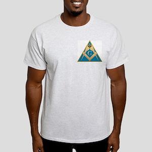 Masonic S&C supporting the pyramid Ash Grey T-Shir