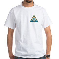 Masonic S&C supporting the pyramid White T-Shirt