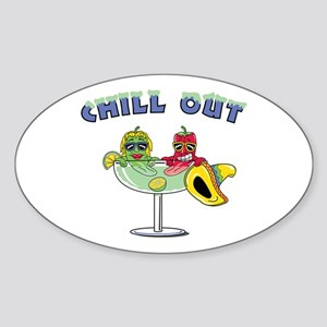 Chill Out Oval Sticker