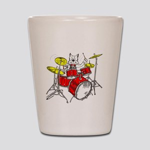 Catoons™ Drums Cat Shot Glass