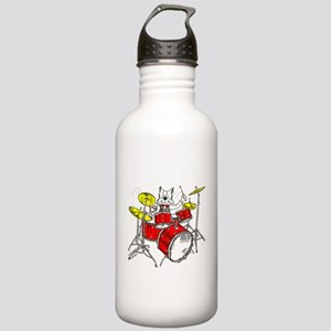 Catoons™ Drums Cat Stainless Water Bottle 1.0L