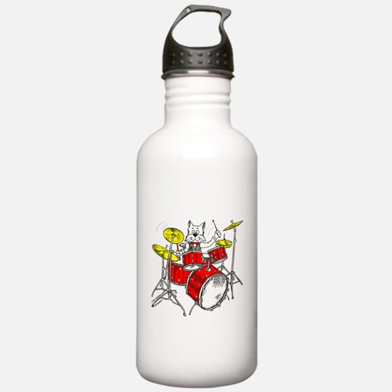Catoons™ Drums Cat Water Bottle