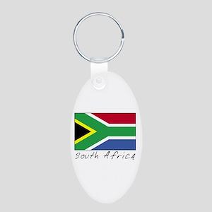 South Africa (Flag, World) Aluminum Oval Keychain