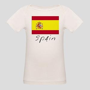 Spain (Flag, International) Organic Baby T-Shirt