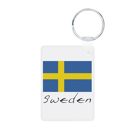 Sweden (Flag, International) Aluminum Photo Keycha