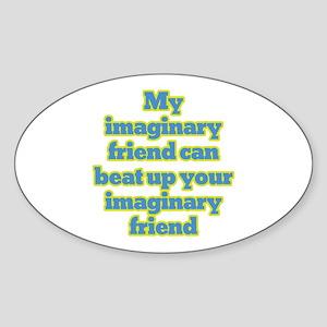 My Imaginary Friend Oval Sticker