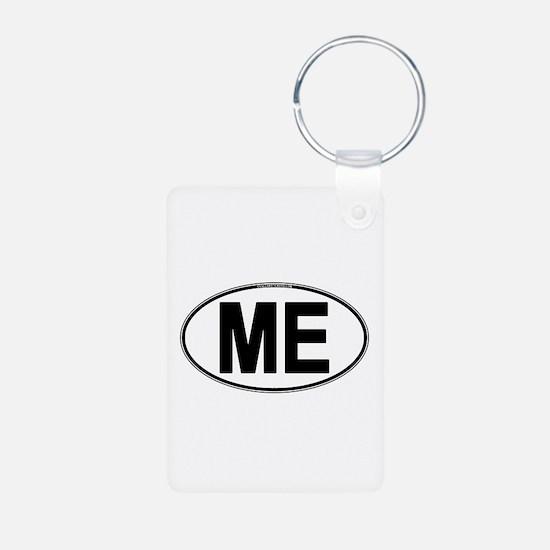 (ME) Euro Oval Aluminum Photo Keychain