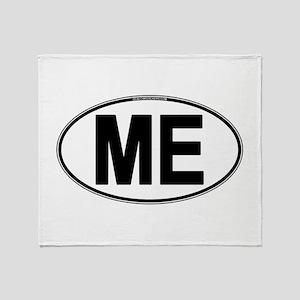 (ME) Euro Oval Throw Blanket
