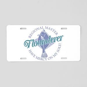 Flounderer Aluminum License Plate