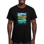 Celtic Castle Tor Men's Fitted T-Shirt (dark)