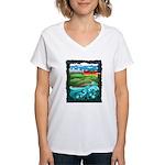 Celtic Castle Tor Women's V-Neck T-Shirt