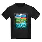 Celtic Castle Tor Kids Dark T-Shirt