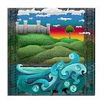 Celtic Castle Tor Tile Coaster