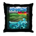 Celtic Castle Tor Throw Pillow