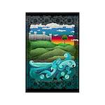 Celtic Castle Tor Rectangle Magnet (100 pack)
