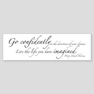 Henry David Thoreau Sticker (Bumper)