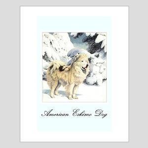 Eskimo Dog Art Small Poster