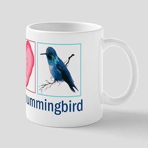 PEACE HEART HUMMINGBIRD Mug