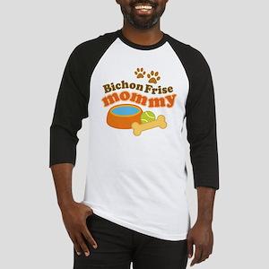 Bichon Frise Mommy Pet Gift Baseball Jersey