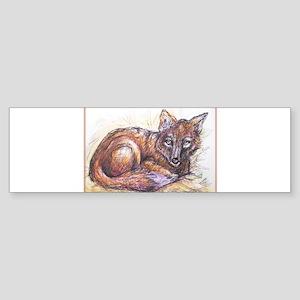 Fox! Wilflife art! Sticker (Bumper)