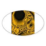 WillieBMX Radiate Sticker (Oval)