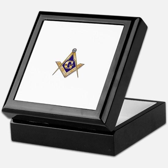 Discreet Blue Square & Compasses Stash Box