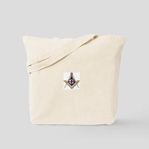 Discreet Blue Square & Compasses Tote Bag