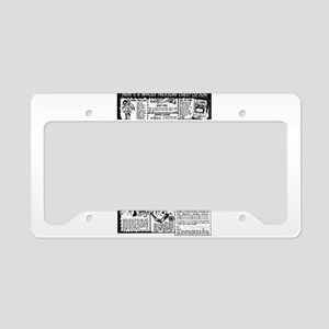 RETRO COMIC AD License Plate Holder