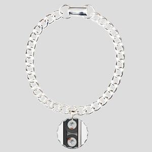 RETRO CASSETTE TAPE Charm Bracelet, One Charm