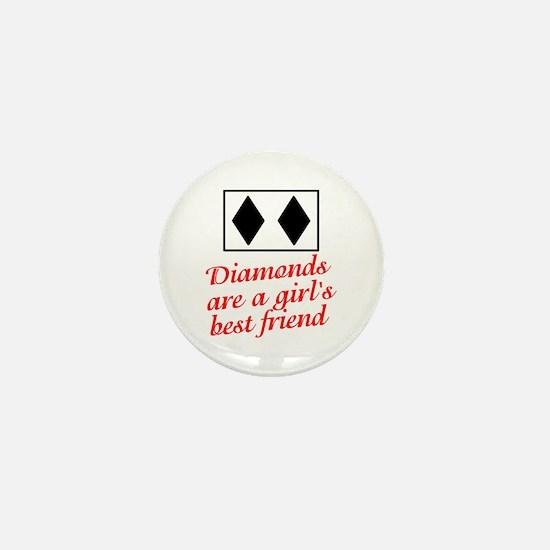 Diamonds: girl's best friend Mini Button