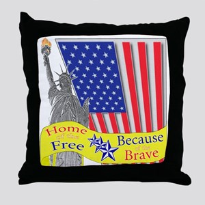 Home of the Free Because of t Throw Pillow